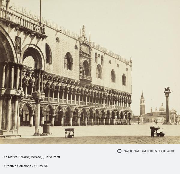 Carlo Ponti, St Mark's Square, Venice