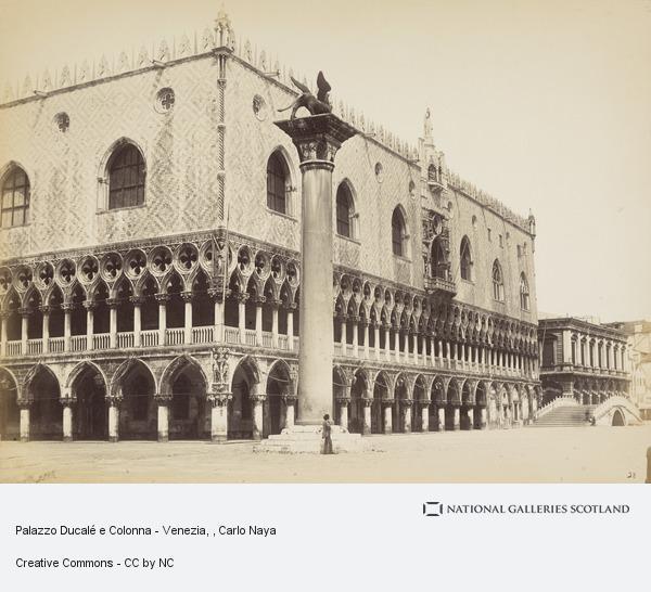 Carlo Naya, Palazzo Ducalé e Colonna - Venezia