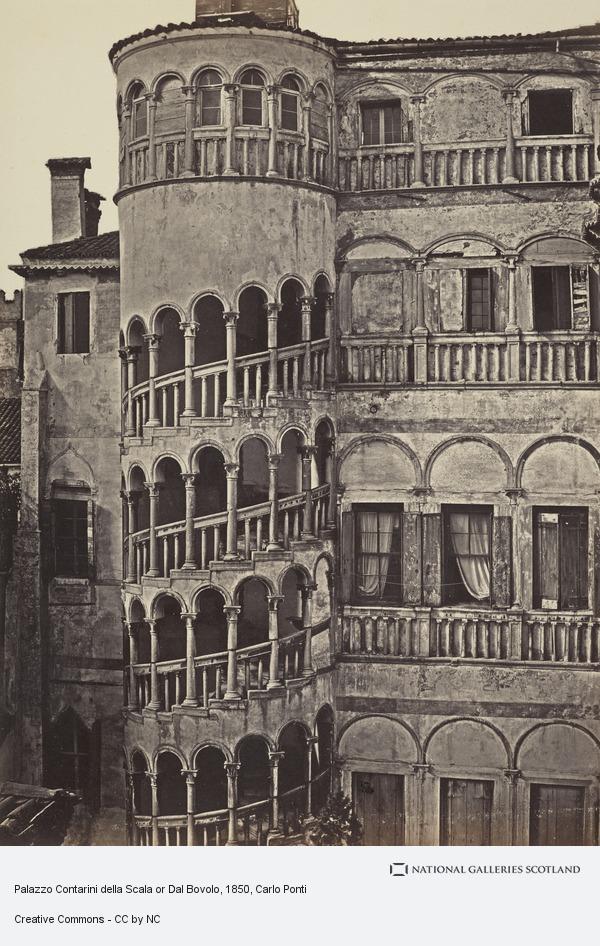 Carlo Ponti, Palazzo Contarini della Scala or Dal Bovolo