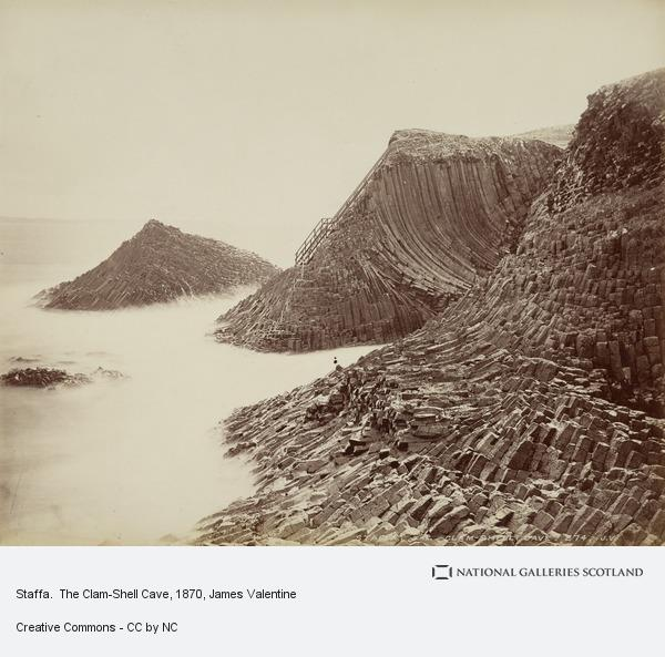 James Valentine, Staffa.  The Clam-Shell Cave (1870s)