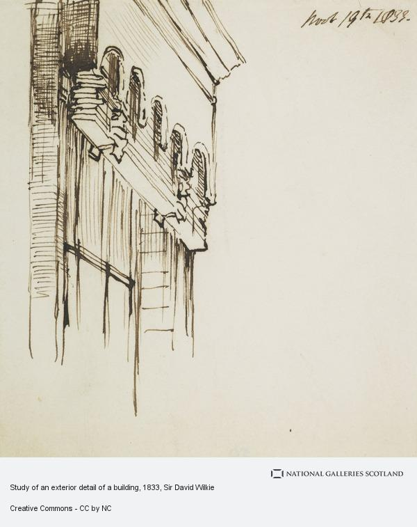 Study of an exterior detail of a building, from an album of ...