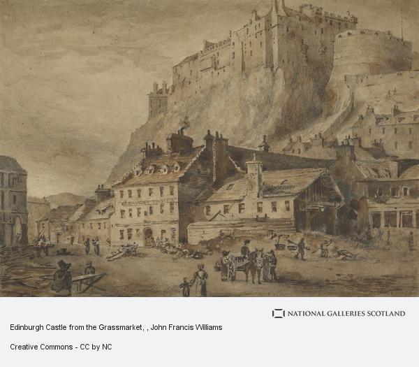 John Francis Williams, Edinburgh Castle from the Grassmarket
