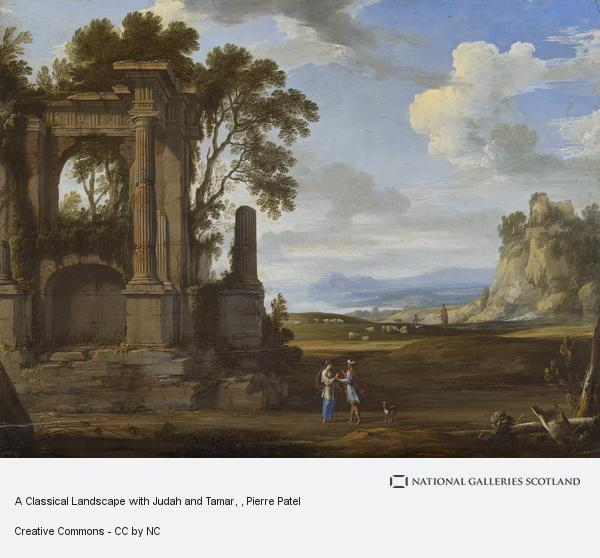 Pierre Patel, A Classical Landscape with Judah and Tamar