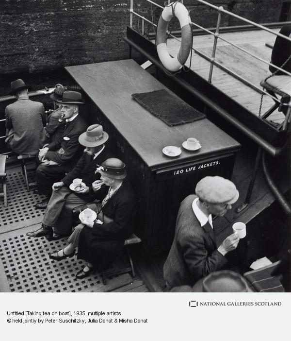 Edith Tudor-Hart, Untitled [Taking tea on boat]