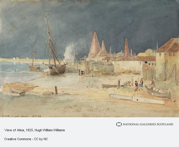 Hugh William Williams, View of Alloa (About 1825)
