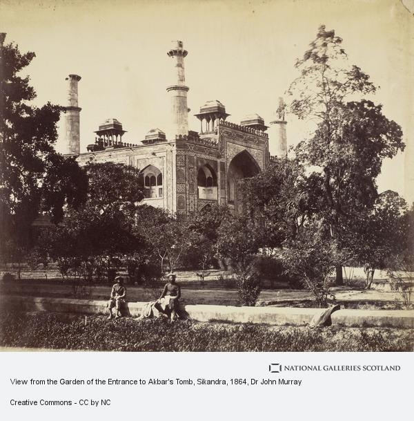 Dr John Murray, View from the Garden of the Entrance to Akbar's Tomb, Sikandra