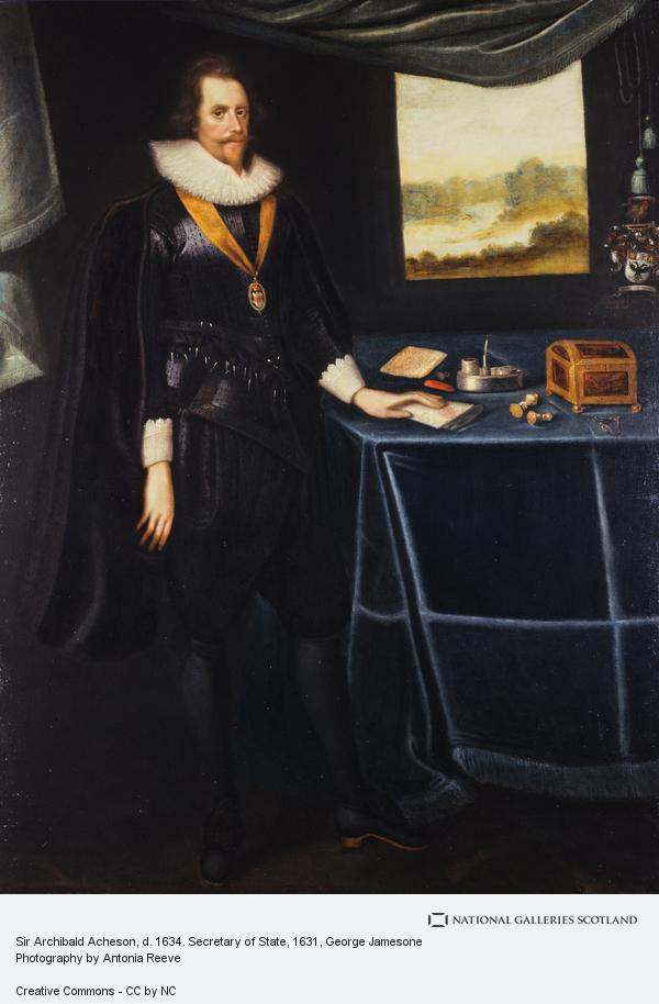 George Jamesone, Sir Archibald Acheson, d. 1634. Secretary of State
