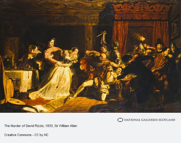 Sir William Allan, The Murder of David Rizzio (Exhibited 1833 (Royal Academy))