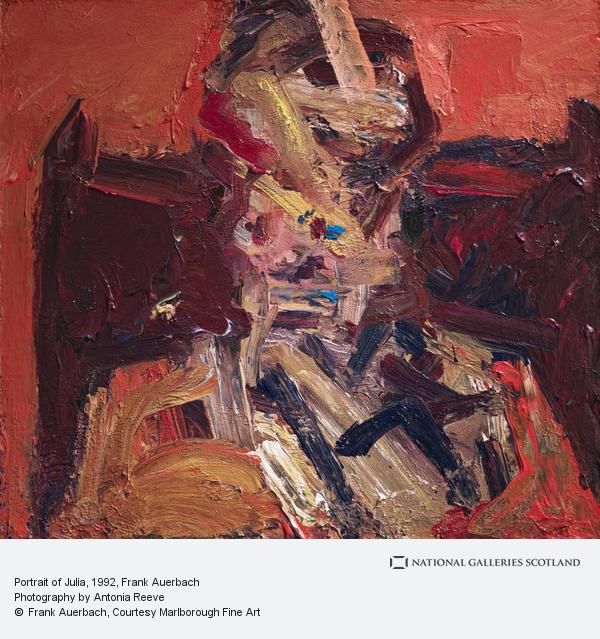 Frank Auerbach, Portrait of Julia (1992)