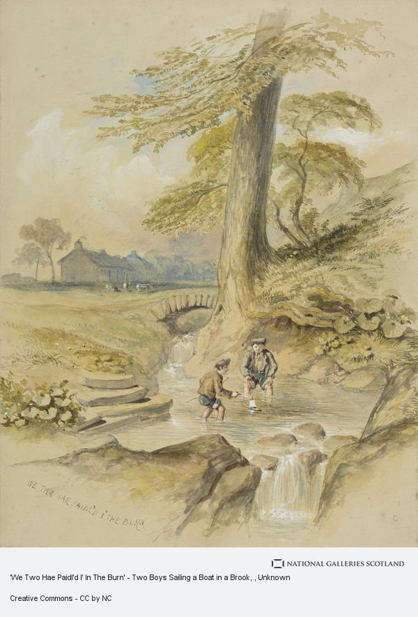 Unknown, 'We Two Hae Paidl'd I' In The Burn' - Two Boys Sailing a Boat in a Brook