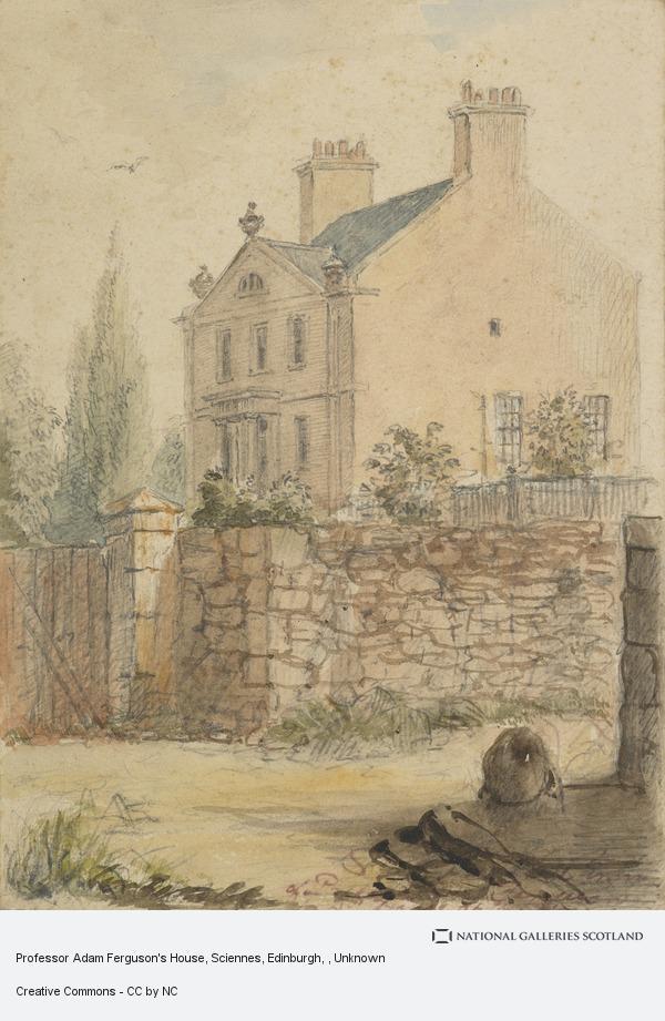 Unknown, Professor Adam Ferguson's House, Sciennes, Edinburgh