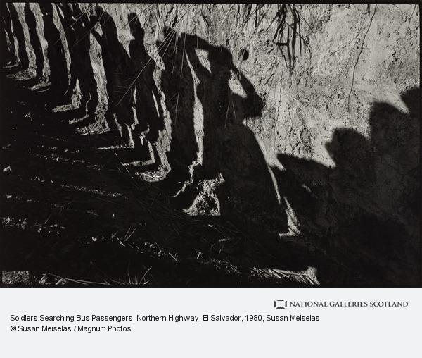 Susan Meiselas, Soldiers Searching Bus Passengers, Northern Highway, El Salvador
