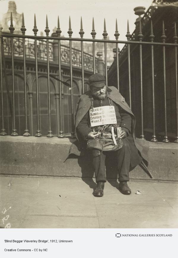 Unknown, 'Blind Beggar Waverley Bridge' (About 1912)