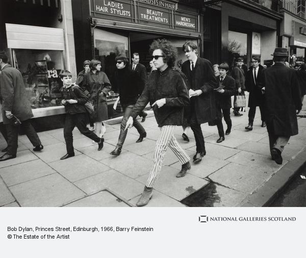Barry Feinstein, Bob Dylan, Princes Street, Edinburgh