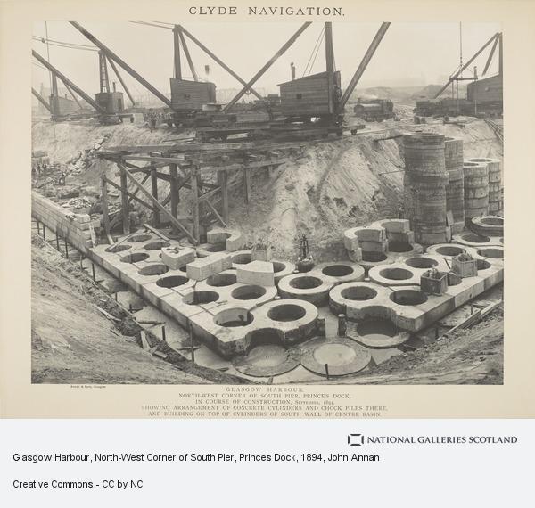 John Annan, Glasgow Harbour, North-West Corner of South Pier, Princes Dock (September 1894)