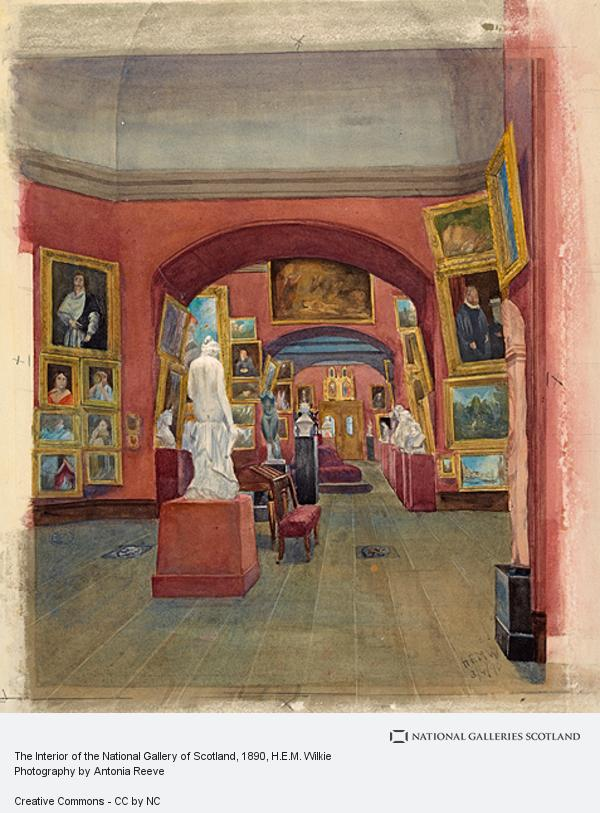 H.E.M. Wilkie, The Interior of the National Gallery of Scotland
