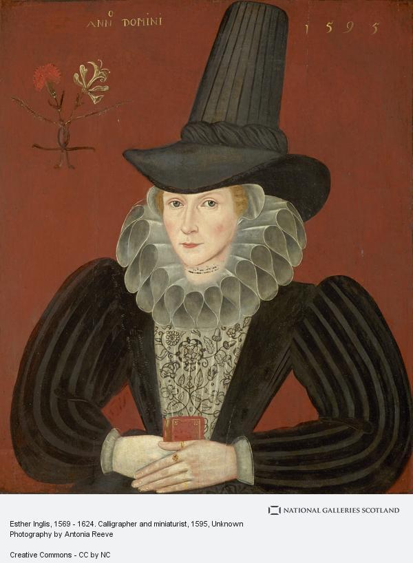 Unknown, Esther Inglis, 1571 - 1624. Calligrapher and miniaturist (1595)