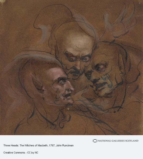 John Runciman, Three Heads: The Witches of Macbeth (About 1767 - 1768)