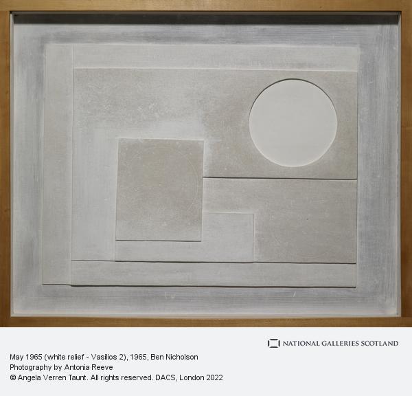 Ben Nicholson, May 1965 (white relief - Vasilios 2)