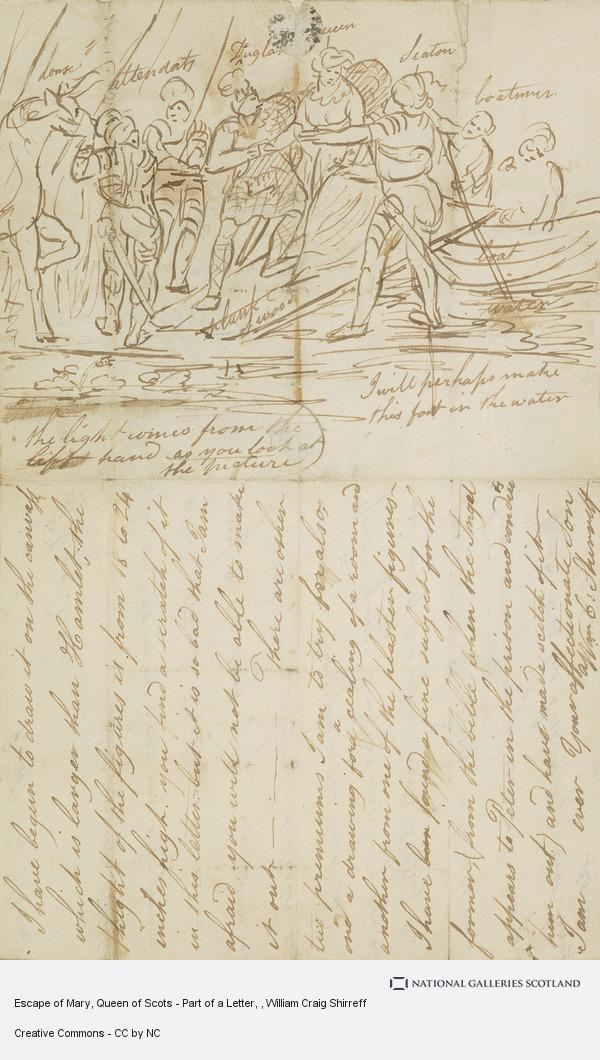 William Craig Shirreff, Escape of Mary, Queen of Scots - Part of a Letter