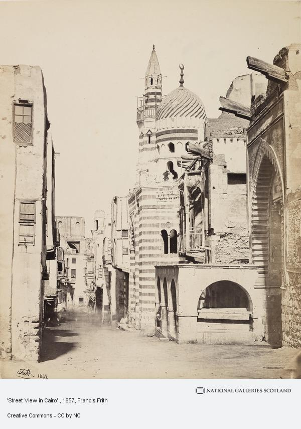 Francis Frith, 'Street View in Cairo'.