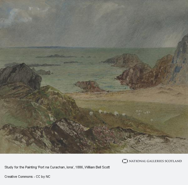 William Bell Scott, Study for the Painting 'Port na Curachan, Iona'