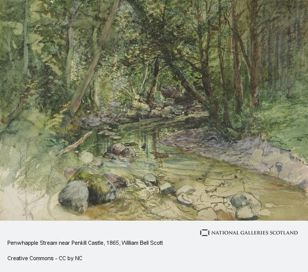 William Bell Scott, Penwhapple Stream near Penkill Castle (1865)