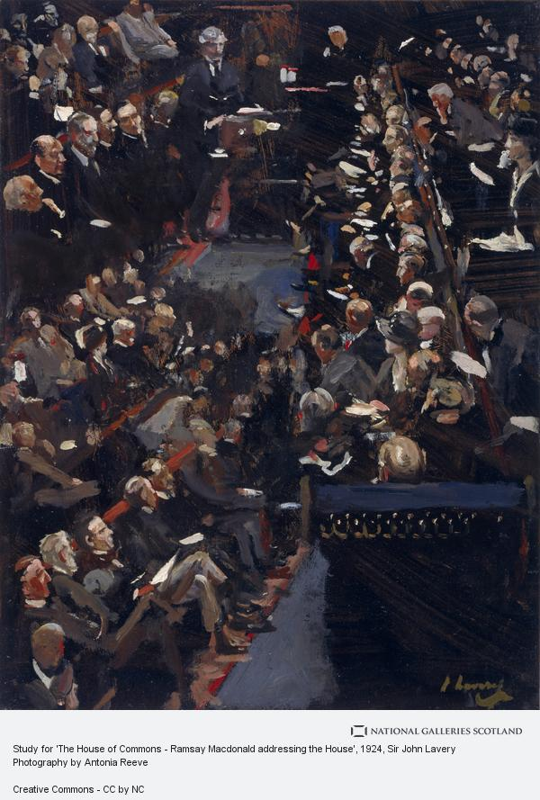 Sir John Lavery, Study for 'The House of Commons - Ramsay Macdonald addressing the House'