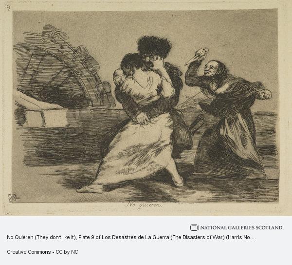 Francisco de Goya y Lucientes, No Quieren (They don't like it), Plate 9 of Los Desastres de La Guerra (The Disasters of War) (Harris No. 129 III)