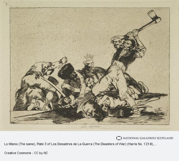 Francisco de Goya y Lucientes, Lo Mismo (The same), Plate 3 of Los Desastres de La Guerra (The Disasters of War) (Harris No. 123 III)
