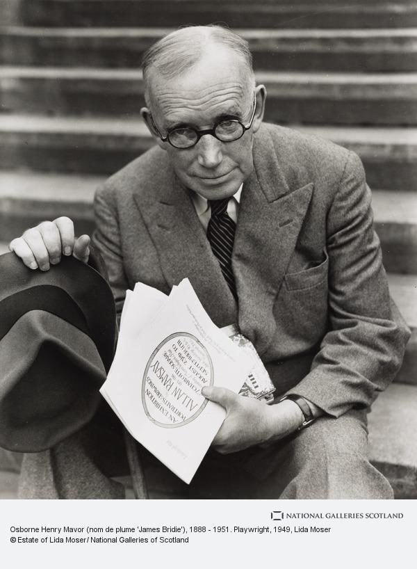 Lida Moser, Osborne Henry Mavor (nom de plume 'James Bridie'), 1888 - 1951. Playwright