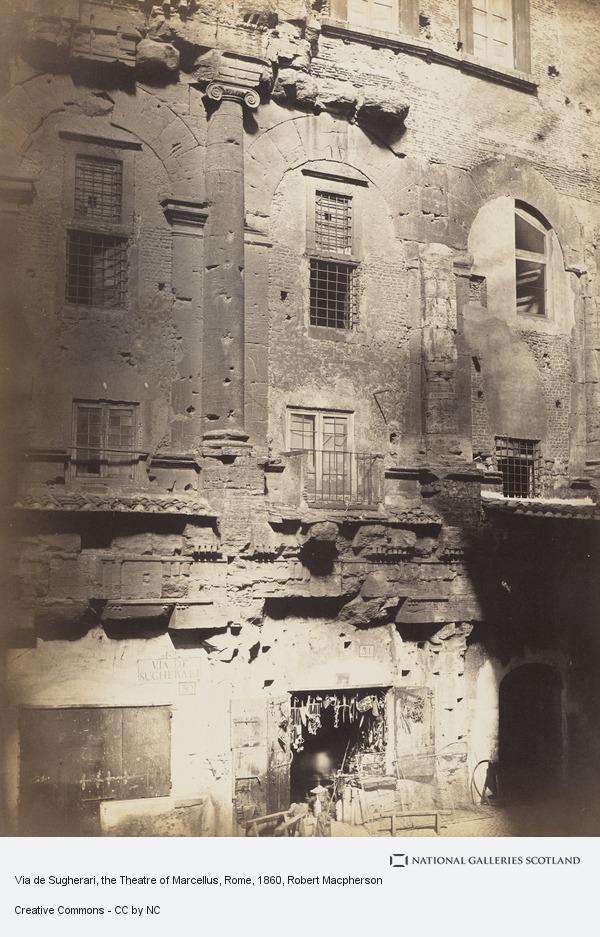 Robert Macpherson, Via de Sugherari, the Theatre of Marcellus, Rome