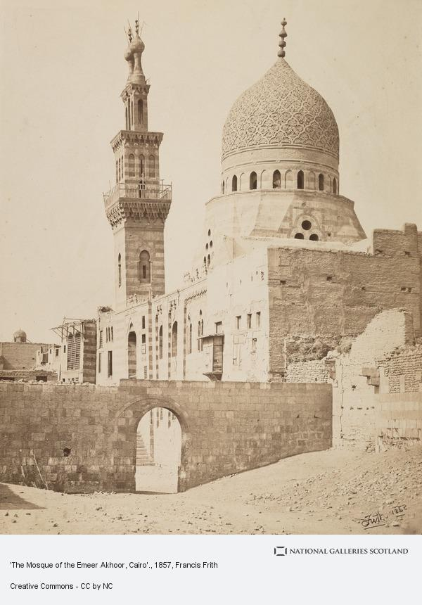 Francis Frith, 'The Mosque of the Emeer Akhoor, Cairo'.