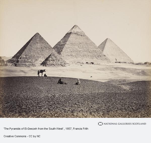 Francis Frith, 'The Pyramids of El-Geezeh from the South West'.