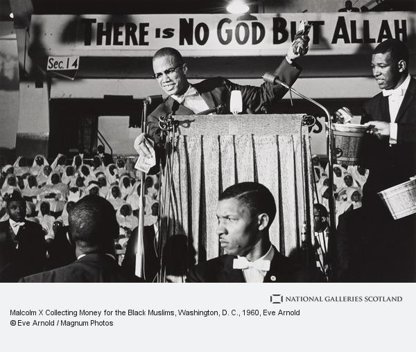 Eve Arnold, Malcolm X Collecting Money for the Black Muslims, Washington, D. C.