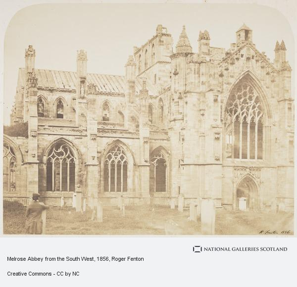 Roger Fenton, Melrose Abbey from the South West