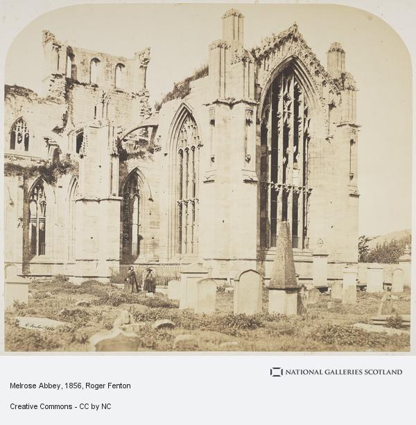Roger Fenton, Melrose Abbey (1856)