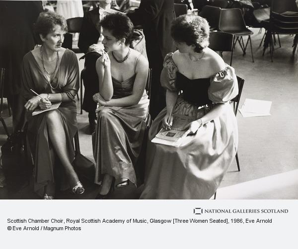 Eve Arnold, Scottish Chamber Choir, Royal Scottish Academy of Music, Glasgow [Three Women Seated]