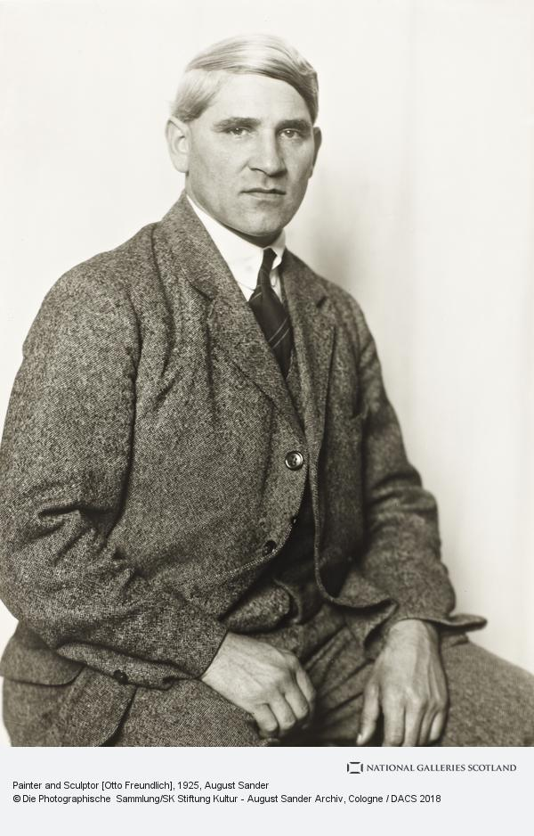 August Sander, Painter and Sculptor [Otto Freundlich], about 1925 (about 1925)