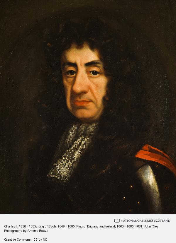 John Riley, Charles II, 1630 - 1685. King of Scots 1649 - 1685, King of England and Ireland, 1660 - 1685