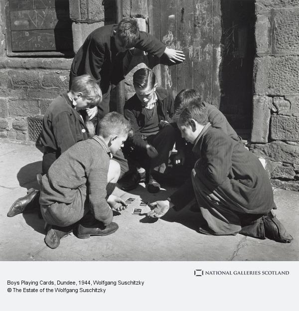 Wolfgang Suschitzky, Boys Playing Cards, Dundee