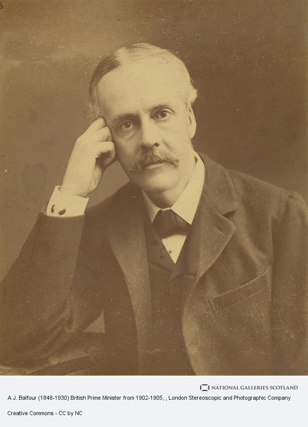 London Stereoscopic and Photographic Company, A.J. Balfour (1848-1930) British Prime Minister from 1902-1905