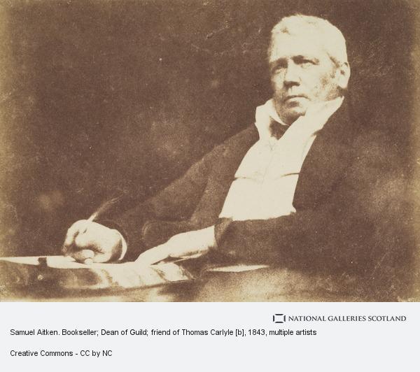 David Octavius Hill, Samuel Aitken. Bookseller; Dean of Guild; friend of Thomas Carlyle (About 1843)
