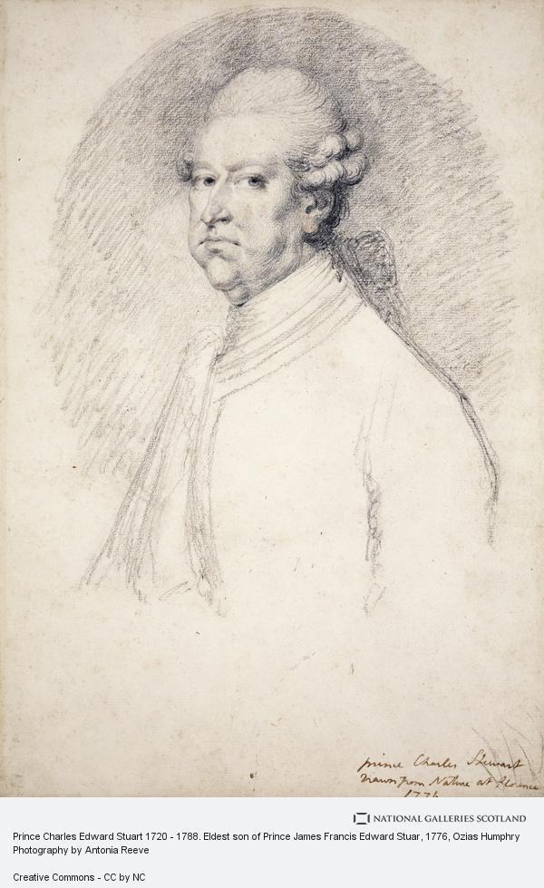 Ozias Humphry, Prince Charles Edward Stuart 1720 - 1788. Eldest son of Prince James Francis Edward Stuar