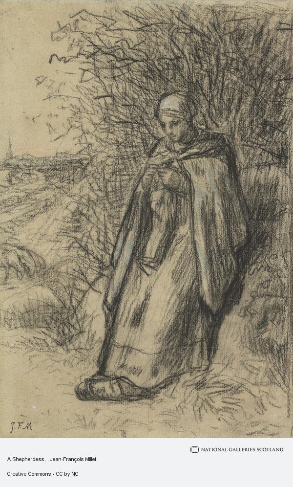 Jean-Francois Millet, A Shepherdess