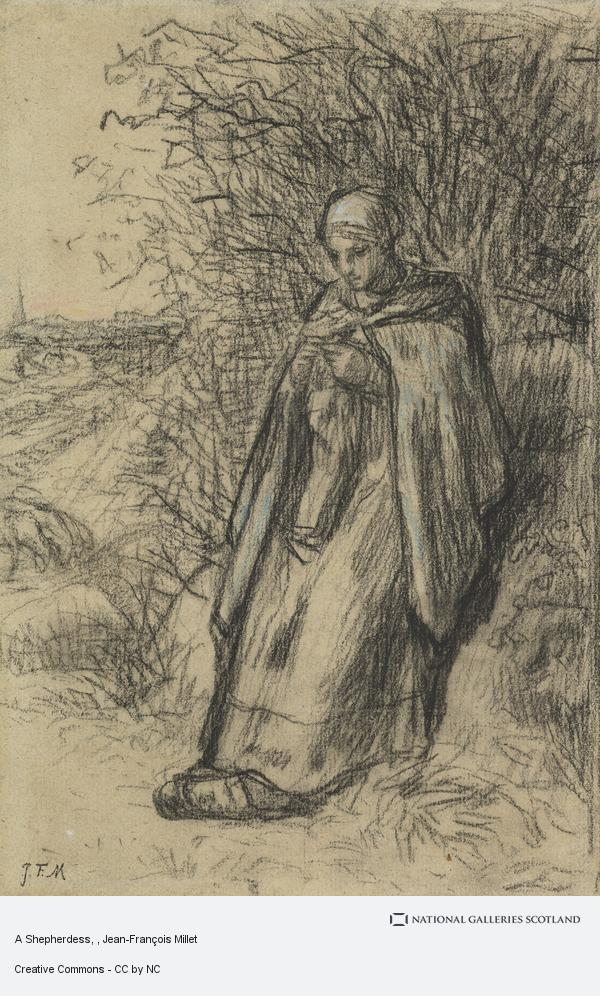 Jean-François Millet, A Shepherdess