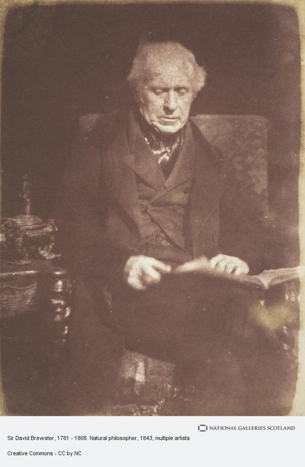 David Octavius Hill, Sir David Brewster, 1781 - 1868. Natural philosopher