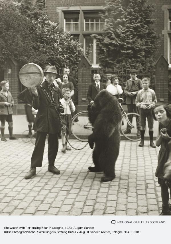August Sander, Showman with Performing Bear in Cologne, 1923 (1923)