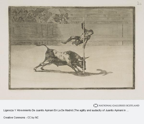 Francisco de Goya y Lucientes, Ligereza Y Atrevimiento De Juanito Apinani En La De Madrid (The agility and audacity of Juanito Apinani in [the ring] at Madrid), Plate 20 of La...