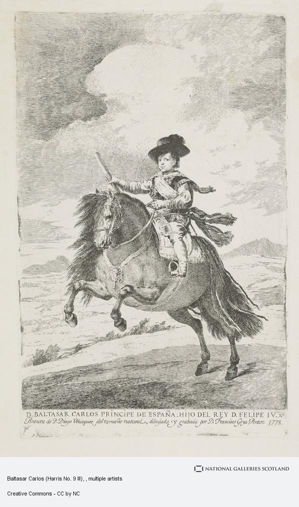 Francisco de Goya y Lucientes, Baltasar Carlos (Harris No. 9 III)